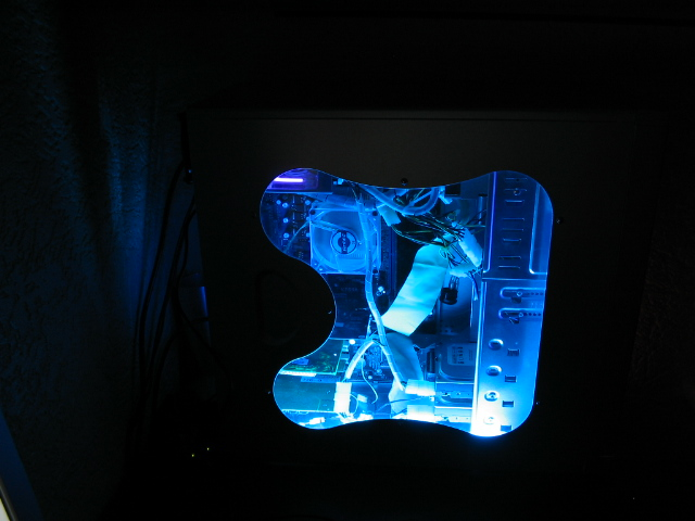 Case lit up with Blue Cold Cathodes